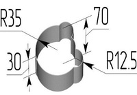 Вырубка Голова мишки. Цену уточняйте (т. +375 17 294-03-37, 294-01-42)