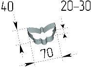 Вырубка Бабочка. Цену уточняйте (т. +375 17 294-03-37, 294-01-42)