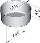 Форма хлебопекарная круглая (литая алюминиевая, 150 х 140 х 63 мм)