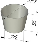 Форма хлебопекарная круглая (литая алюминиевая, 175х125х125 мм). Цену уточняйте (т. +375 17 294-03-37, 210-01-48)