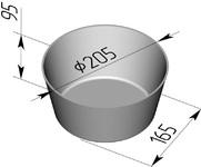Форма хлебопекарная круглая № 17 (литая алюминиевая, 205 х 165 х 95 мм)