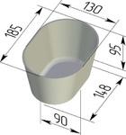 Форма хлебопекарная овальная № 10-1 (литая алюминиевая,185 х 130 х  95 мм). Цену уточняйте (т. +375 17 294-03-37, 294-01-42)