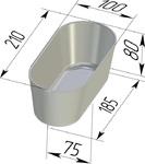 Форма хлебопекарная овальная № 10-2 (литая алюминиевая, 210 х 100 х 80 мм). Цену уточняйте (т. +375 17 294-03-37, 210-01-48)