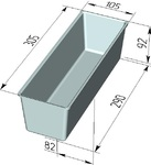 Форма хлебопекарная тостерная (литая алюминиевая, 305 х 105 х 92 мм). Цену уточняйте (т. + 375 17 294-03-37, 210-01-48)