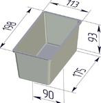 Форма хлебопекарная тостерная (литая алюминиевая, 198 х 113 х 93 мм). Цену уточняйте (т. +375 17 294-03-37, 210-01-48)
