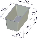 Форма хлебопекарная тостерная (литая алюминиевая, 198 х 113 х 93 мм). Цену уточняйте (т. +375 17 294-03-37, 294-01-42)
