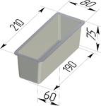 Форма хлебопекарная тостерная (литая алюминиевая, 210 х 80 х 75 мм). Цену уточняйте (т. +375 17 294-03-37, 210-01-48)