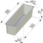 Форма хлебопекарная тостерная (литая алюминиевая, 280 х 80 х 75 мм). Цену уточняйте (т. +375 17 294-03-37, 294-01-42)