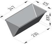 Форма хлебопекарная треугольная (литая алюминиевая, 247 х 125 х 100 мм). Цену уточняйте (т. +375 17 294-03-37, 294-01-42)