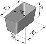Форма хлебопекарная прямоугольная № 6 (литая алюминиевая, 235 х 115 х 115 мм). Цену уточняйте (т. +375 17 294-03-37, 294-01-42)