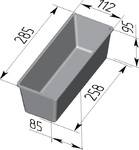 Форма хлебопекарная тостерная  (литая алюминиевая, 285 х 112 х 85 мм). Цену уточняйте (т. +375 17 294-03-37, 294-01-42)
