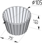 Форма хлебопекарная круглая Кексница (литая алюминиевая,105 х 75 х 65 мм)