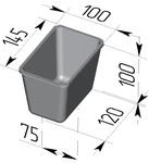 Форма хлебопекарная прямоугольная № 11 (литая алюминиевая, 145 х 100 х 100 мм). Цену уточняйте (т. +375 17 294-03-37, 294-01-42)