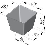 Форма хлебопекарная (литая алюминиевая, 125 х 125 х 100 мм). Цену уточняйте (т. +375 17 294-03-37, 294-01-42)