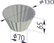 Форма хлебопекарная круглая Кексница (литая алюминиевая, 130 х 70 х 65 мм)