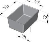 Форма хлебопекарная прямоугольная (литая алюминиевая, 163 х 117 х 72 мм). Цену уточняйте (т. +375 17 294-03-37, 210-01-48)