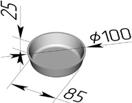 Форма хлебопекарная круглая № 17 Е (литая алюминиевая, 100 х 85 х 25 мм)