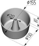 Форма хлебопекарная круглая № 17 Ж (литая алюминиевая, 155 х 130 х 80 мм)