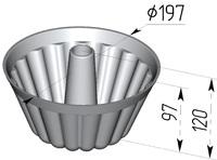 Форма хлебопекарная круглая Кексница (литая алюминиевая, 197 х 97 мм)