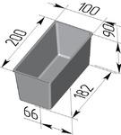 Форма хлебопекарная тостерная (литая алюминиевая, 200 х 100 х 90 мм)