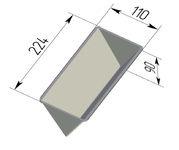 Форма хлебопекарная треугольная (алюминиевая, 224 х 110 х 90 мм). Цену уточняйте (т. +375 17 294-03-37, 210-01-48)