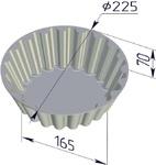 Форма хлебопекарная круглая Кексница (литая алюминиевая, 225 х 165 х 70 мм)