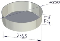 Форма хлебопекарная круглая (литая алюминиевая, 250 х 237 х 73 мм). Цену уточняйте (т. +375 17 294-03-37, 210-01-48)