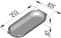 """Форма хлебопекарная """"батонница"""" (литая алюминиевая, 252 х 105 х 30 мм)"""