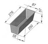 Форма хлебопекарная тостерная (литая алюминиевая, 276х87х57 мм)