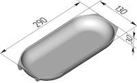 """Форма хлебопекарная """"батонница"""" (литая алюминиевая, 290 х 130 х 30 мм)"""
