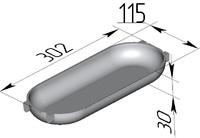 """Форма хлебопекарная """"батонница"""" (литая алюминиевая, 302 х 115 х 30 мм)"""