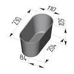 Форма хлебопекарная овальная № 7 ст (литая алюминиевая, 230 х 110 х 105). Цену уточняйте (т. +375 17 294-03-37, 294-01-42)