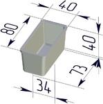 Форма хлебопекарная прямоугольная № 12-4 (литая алюминиевая, 80 х 40 х 40 мм). Цену уточняйте (т. +375 17 294-03-37, 294-01-42)
