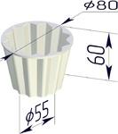 Форма хлебопекарная круглая Кексница (литая алюминиевая, 80 х 55 х 60 мм)