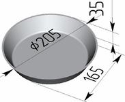 Форма хлебопекарная круглая № 17 В (литая алюминиевая, 205 х 165 х 35 мм)