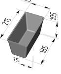 Форма хлебопекарная прямоугольная № 10 (литая алюминиевая, 215 х 105 х 105 мм). Цену уточняйте (т. +375 17 294-03-37, 294-01-42)