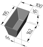 Форма хлебопекарная прямоугольная № 10-1 (литая алюминиевая, 195 х 100 х 95 мм). Цену уточняйте (т. +375 17 294-03-37, 294-01-42)
