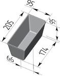 Форма хлебопекарная прямоугольная № 10-2 (литая алюминиевая, 205 х 95 х 95 мм). Цену уточняйте (т. +375 17 294-03-37, 294-01-42)