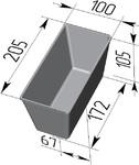Форма хлебопекарная прямоугольная № 10-3 (литая алюминиевая, 205 х 100 х 105 мм). Цену уточняйте (т. +375 17 294-03-37, 294-01-42)