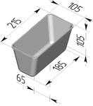 Форма хлебопекарная прямоугольная № 10-5 (литая алюминиевая, 215 х 105 х 105 мм). Цену уточняйте (т. +375 17 294-03-37, 210-01-48)