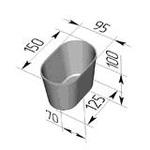 Форма хлебопекарная овальная № 11 (литая алюминиевая, 150 х 95 х 100 мм)