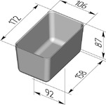 Форма хлебопекарная прямоугольная № 11-В (литая алюминиевая, 172 х 106 х 87 мм). Цену уточняйте (т. +375 17 294-03-37, 294-01-42)