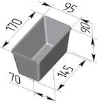 Форма хлебопекарная прямоугольная № 11-А (литая люминиевая, 170 х 95 х 90 мм). Цену уточняйте (т. +375 17 294-03-37, 210-01-48)