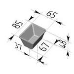 Форма хлебопекарная прямоугольная № 12-2 (литая алюминиевая, 85 х 65 х 48 мм). Цену уточняйте (т. +375 17 294-03-37, 210-01-48)