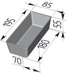 Форма хлебопекарная прямоугольная № 14 (литая алюминиевая, 195 х 85 х 55 мм). Цену уточняйте (т. +375 17 294-03-37, 210-01-48)