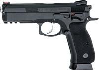 Пистолет софтэйр ASG CZ SP-01 SHADOW, 6мм, металлический, с блоубэком (подвижный затвор), грингаз