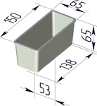 Форма хлебопекарная прямоугольная (литая алюминиевая, 150 х 65 х 65 мм). Цену уточняйте (т. +375 17 294-03-37, 210-01-48)