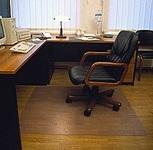 Защитный коврик под компьютерное кресло из ПЕРВИЧНОГО поликарбоната прозрачный 0,9*1,20м шагрень (толщина 1,8мм)