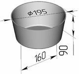 Форма хлебопекарная круглая 2 ДМз (литая алюминиевая, 195 х 160 х 90 мм)