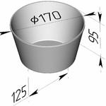 Форма хлебопекарная круглая № 17 А (литая алюминиевая, 170 х 125 х 95 мм)